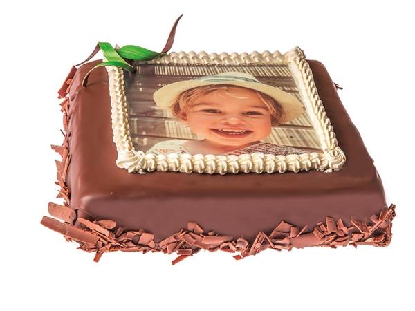 Fototaart chocolade